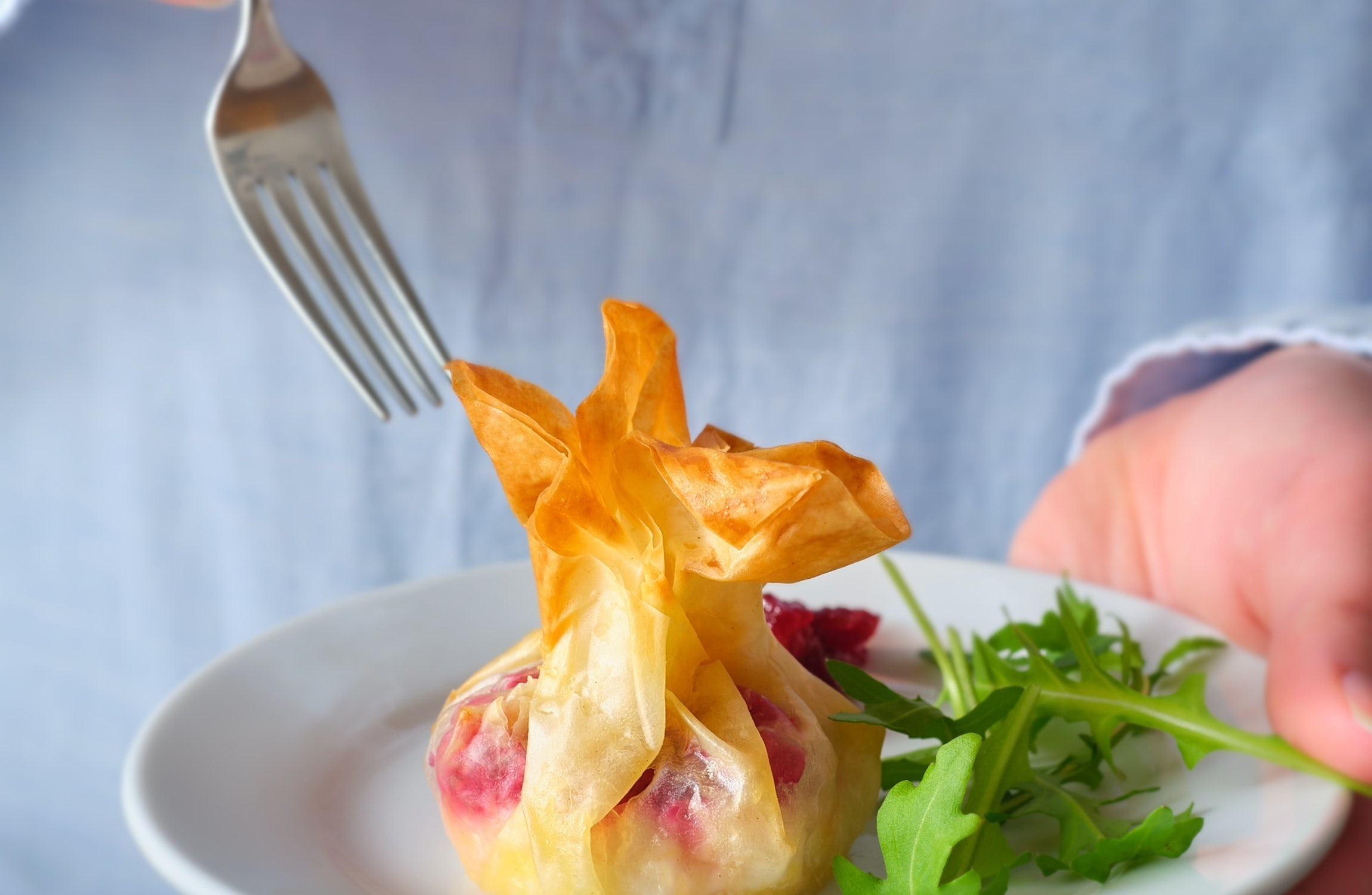 Cranberry & Goat's Cheese Christmas Parcels