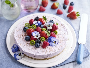 Picture of Mixed Berry Cheesecake with Kiwi Berries
