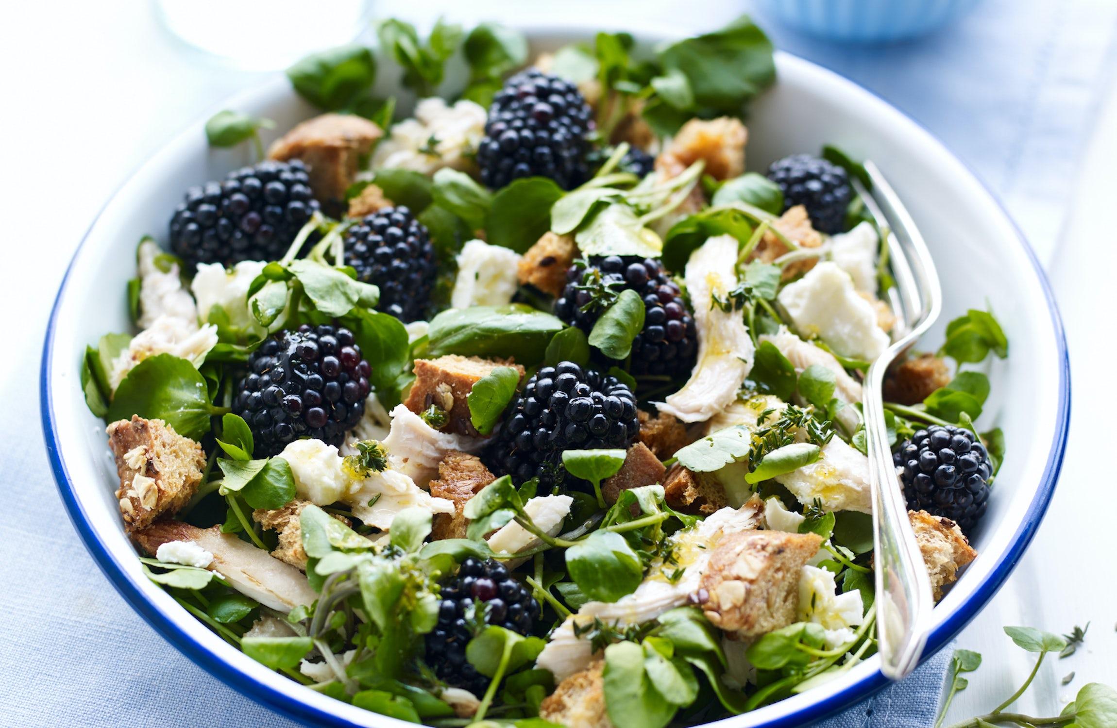 Special Chicken & Blackberry Salad