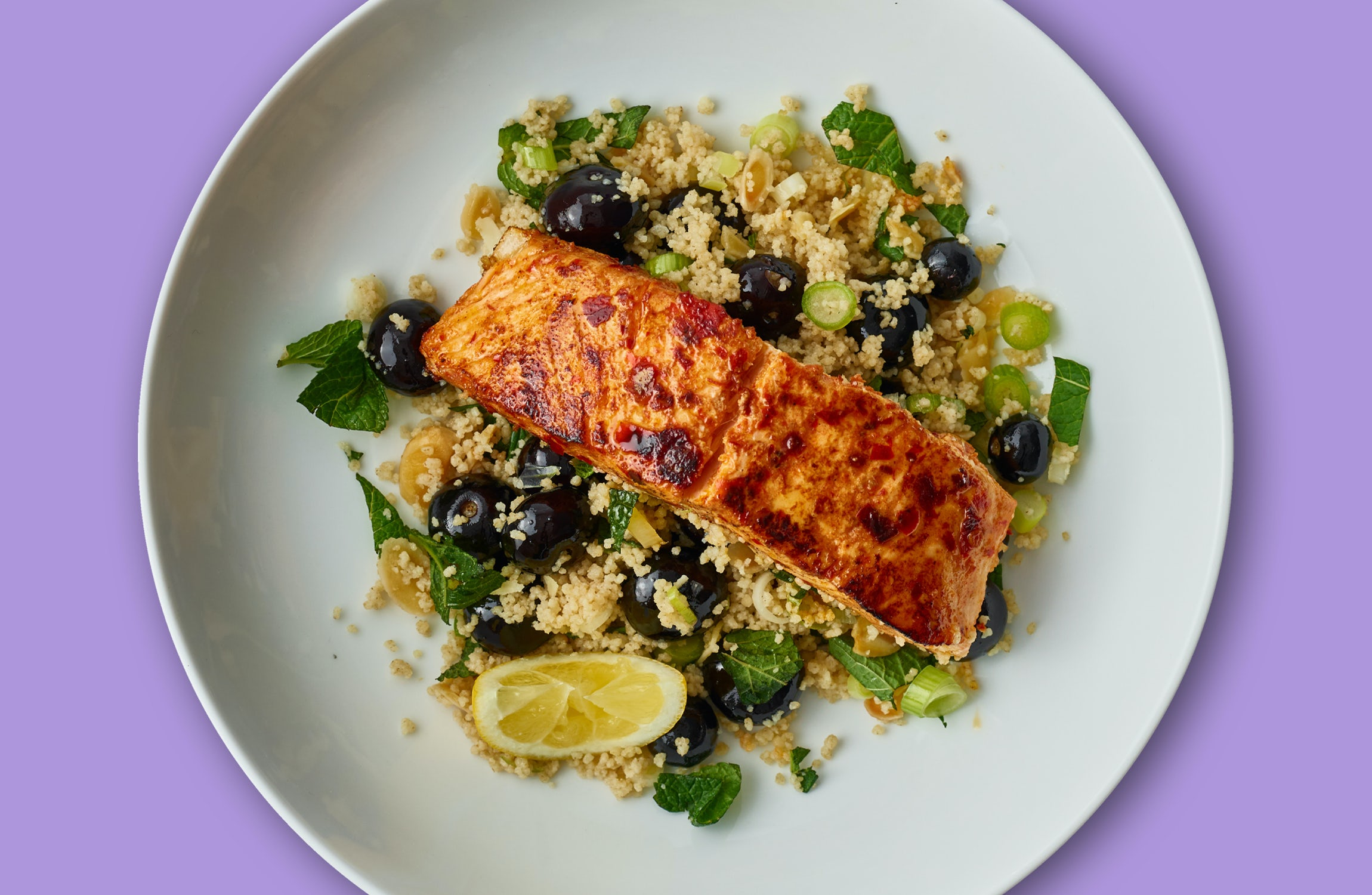 Spicy Salmon & Blueberry Burst Couscous