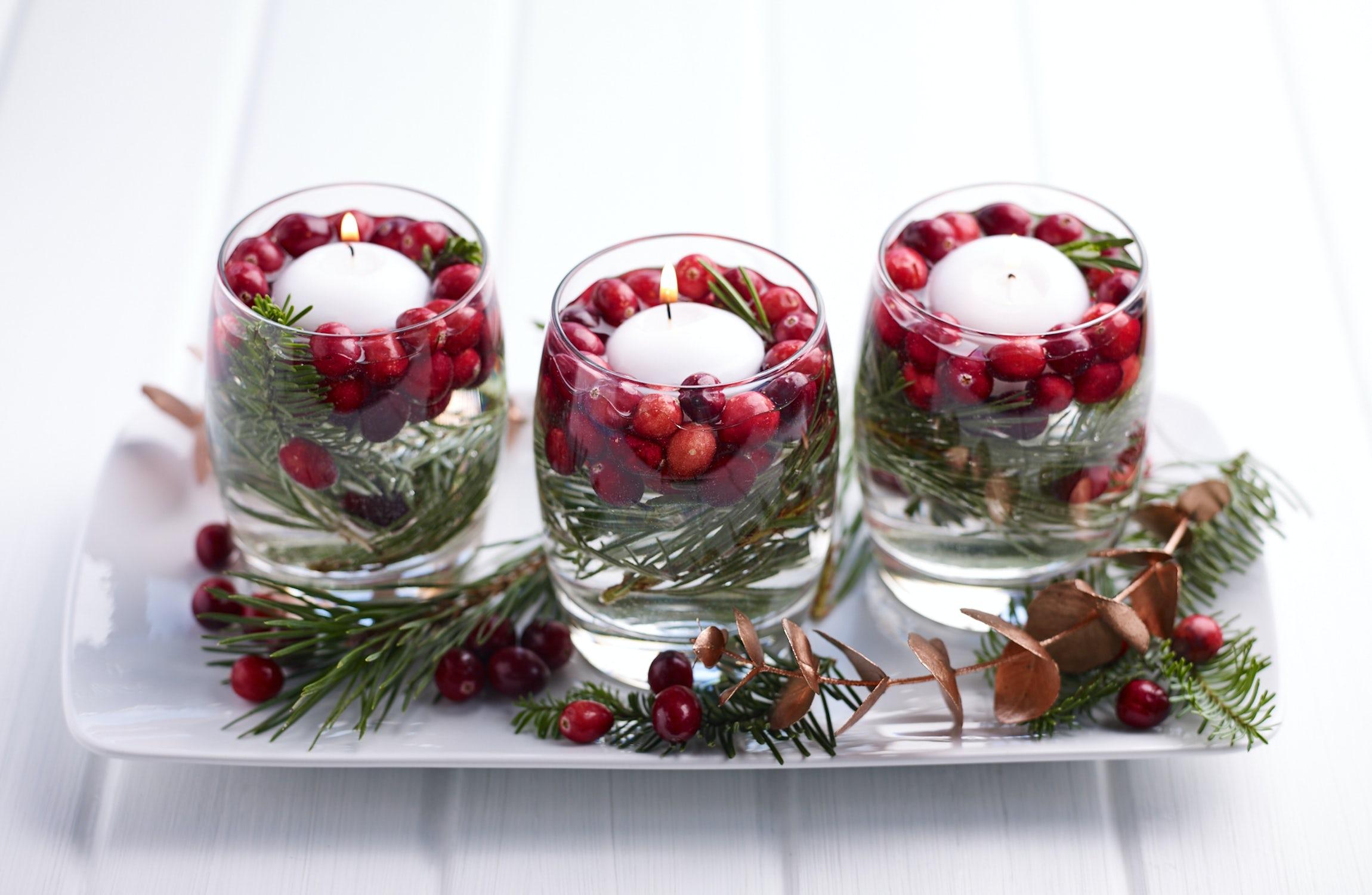 Festive Cranberry Candle
