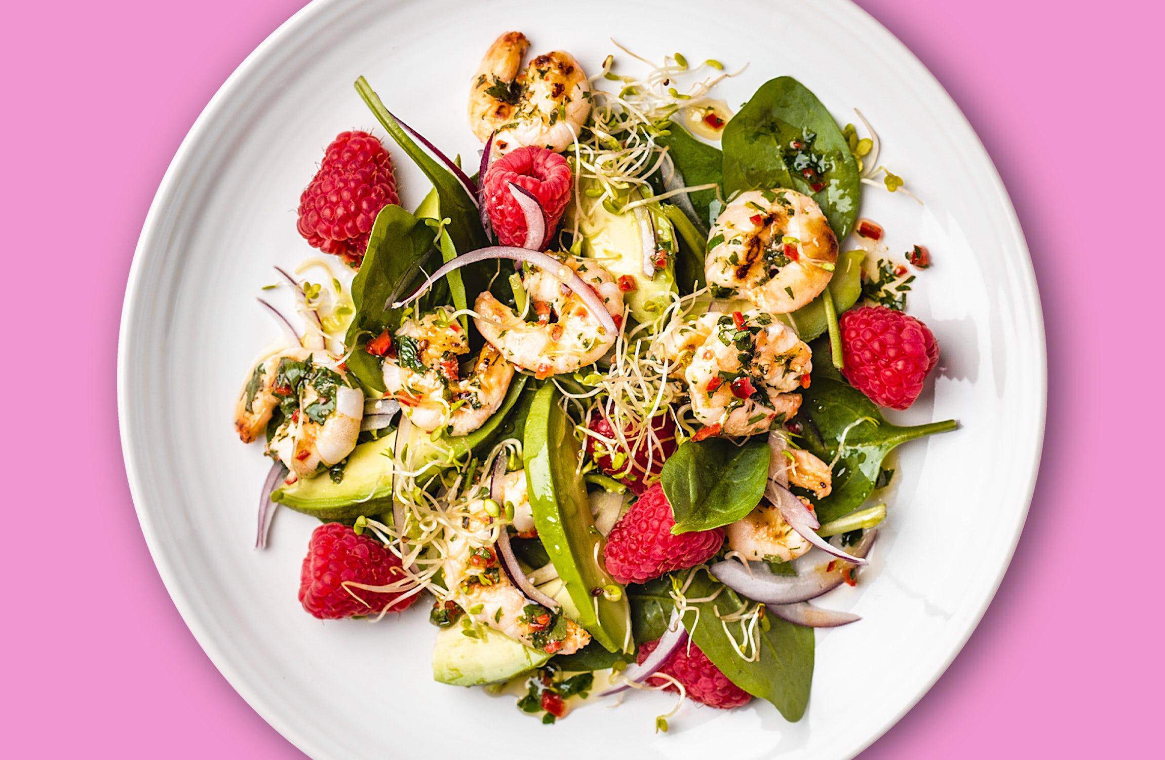 Oh My Goodness Prawn & Raspberry Salad