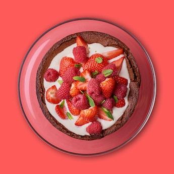 Gluten Free, Not Glutton Free Berry Chocolate Cake