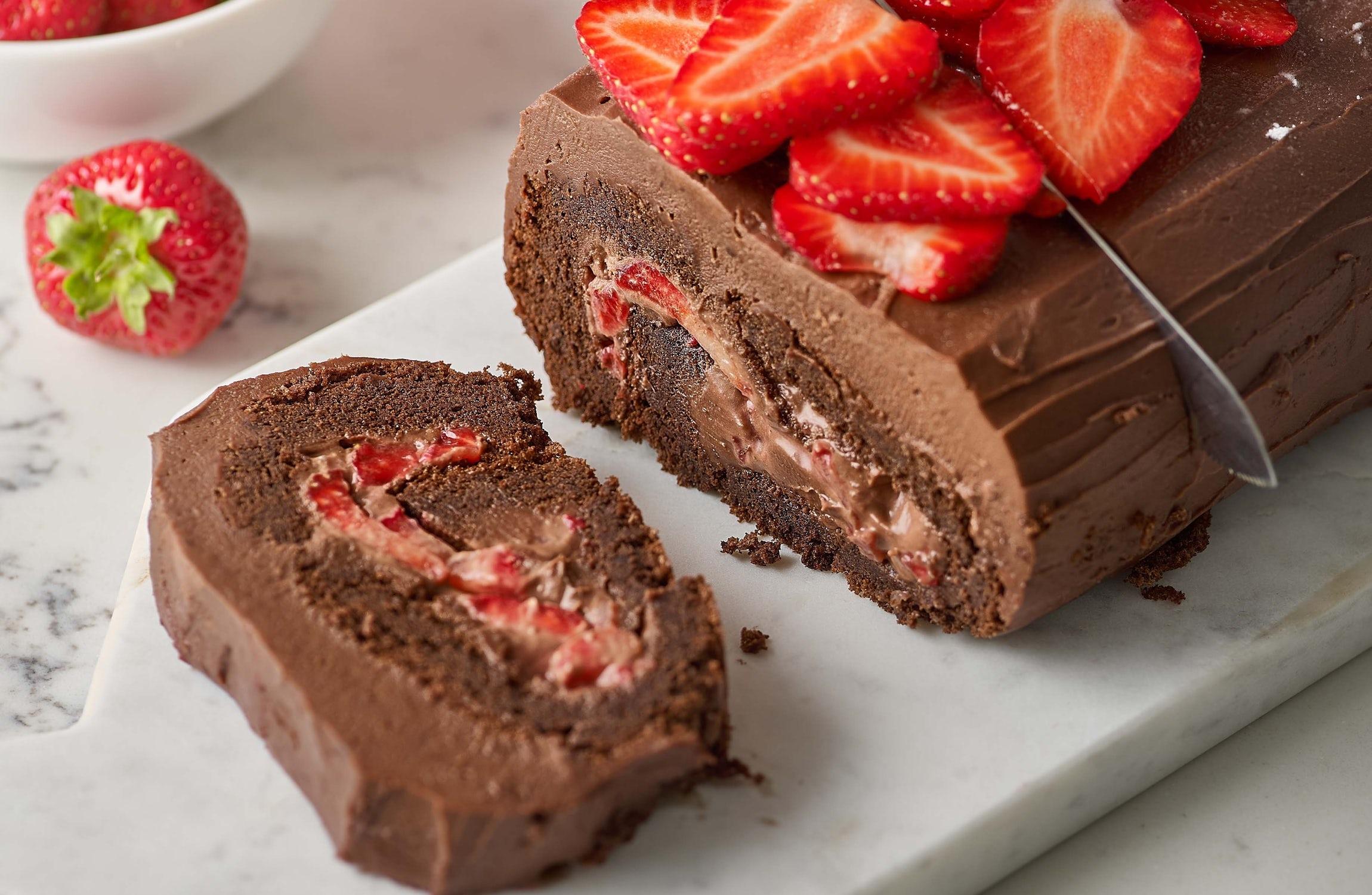 Yule Be Glad Chocolate Ganache Roulade