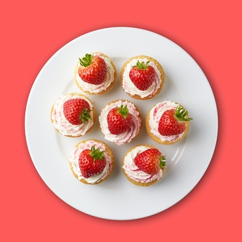 Signature Strawberry & Cream Cupcakes