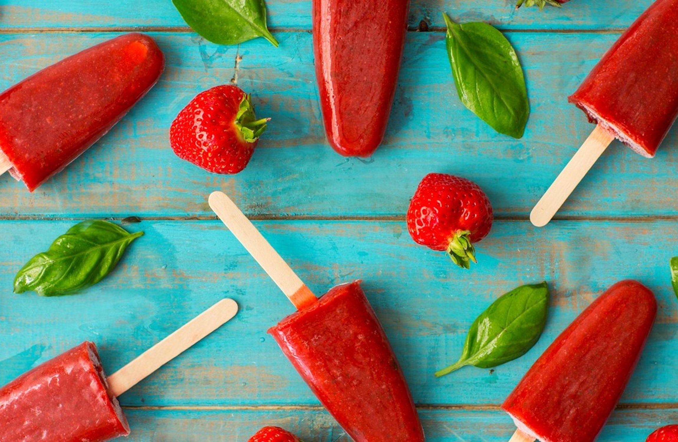 Strawberry Margarita Ice Lollies