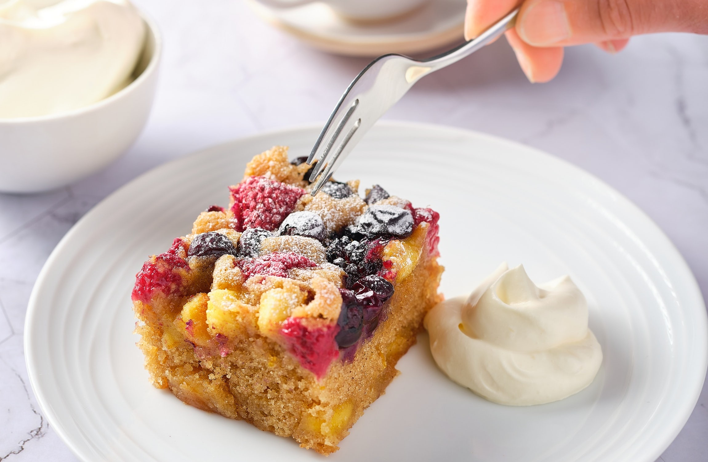 Berry Merry Panettone Pudding