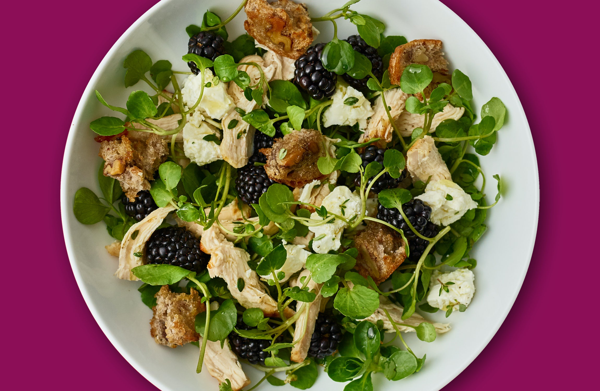 Oh my Goodness Blackberry & Chicken Salad