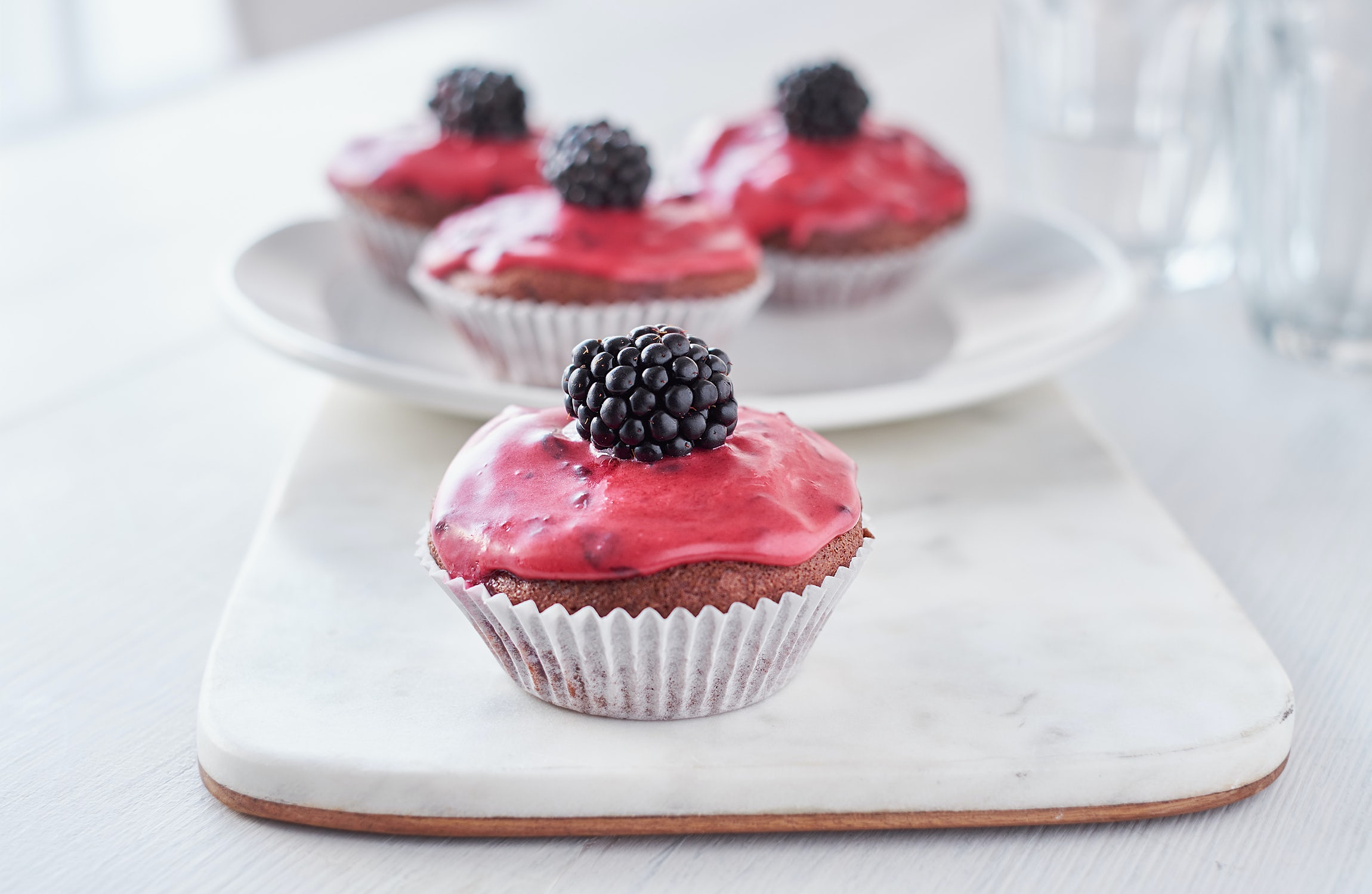 Vegan-licious Blackberry Cupcakes