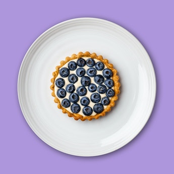 Peek-a-Blue(berry) Custard Tart