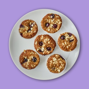 Healthy Top Blueberry Muffins
