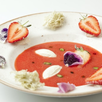 Strawberry Soup & Mosto Cotto