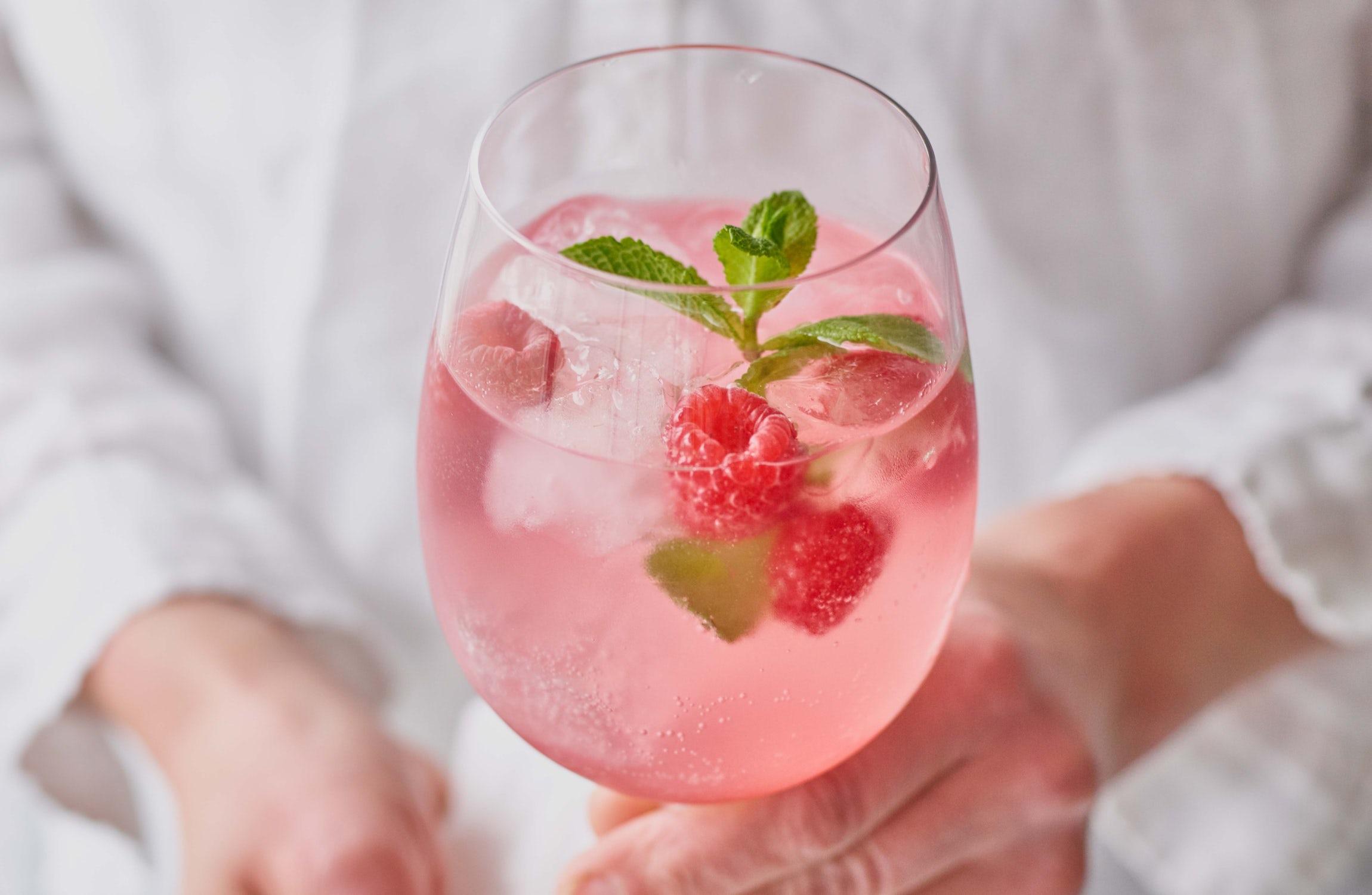 Thank Goodness Refreshing Raspberry Spritzer