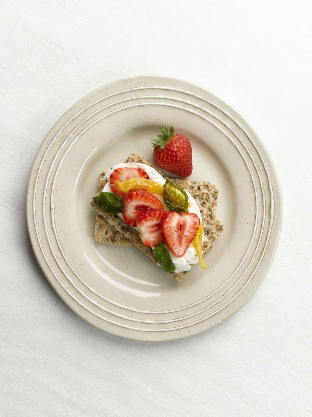 Berry World Strawberry Lemon and Basil Salad with Buffalo Mozzarella Riveta 75inppmid