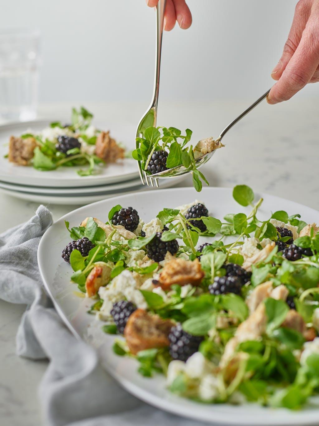 Blackberry chicken salad interaction WEB